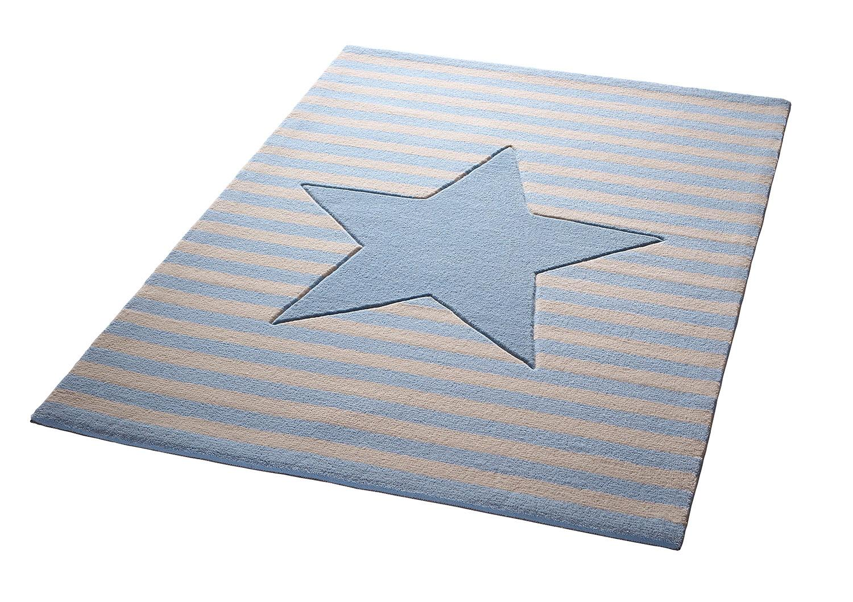 Kinderteppich My little Star Bellybutton rechteckig Höhe 10 mm handgetuftet | Kinderzimmer > Textilien für Kinder > Kinderteppiche | Blau | Bellybutton