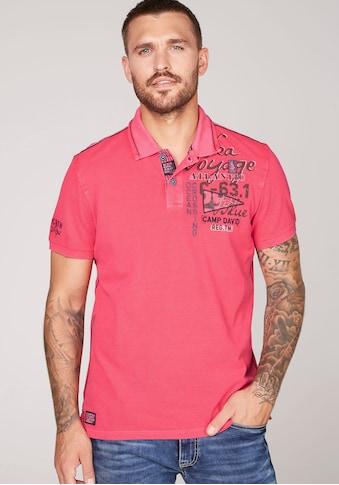 CAMP DAVID Poloshirt, mit auffälligem Rückenprint kaufen