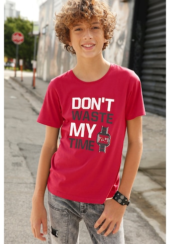 KIDSWORLD T-Shirt »Don´t waste my time« kaufen