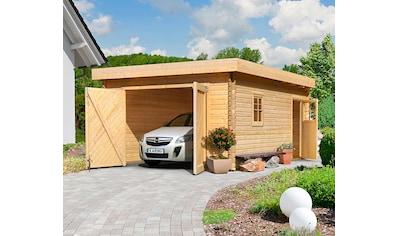 KARIBU Garage »Florian«, BxT: 417x571 cm, Einfahrtshöhe: 193 cm kaufen