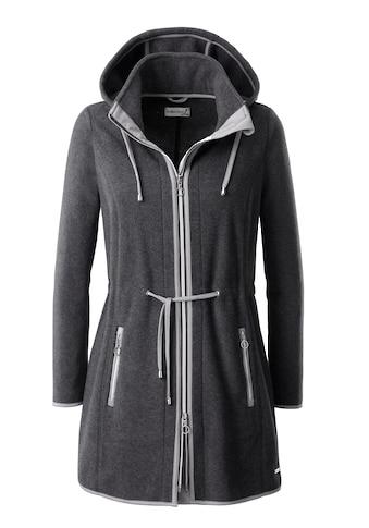 Casual Looks Fleece - Jacke mit Stehkragen und Kapuze kaufen