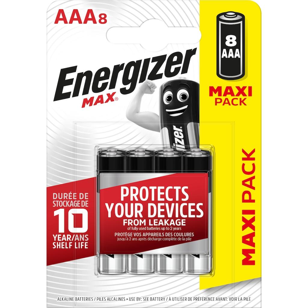 Energizer Batterie »Max Micro (AAA) 8 Stück«