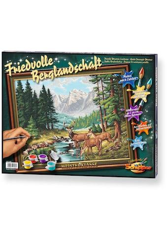 Schipper Malen nach Zahlen »Meisterklasse Premium Friedvolle Berglandschaft«, Made in Germany kaufen