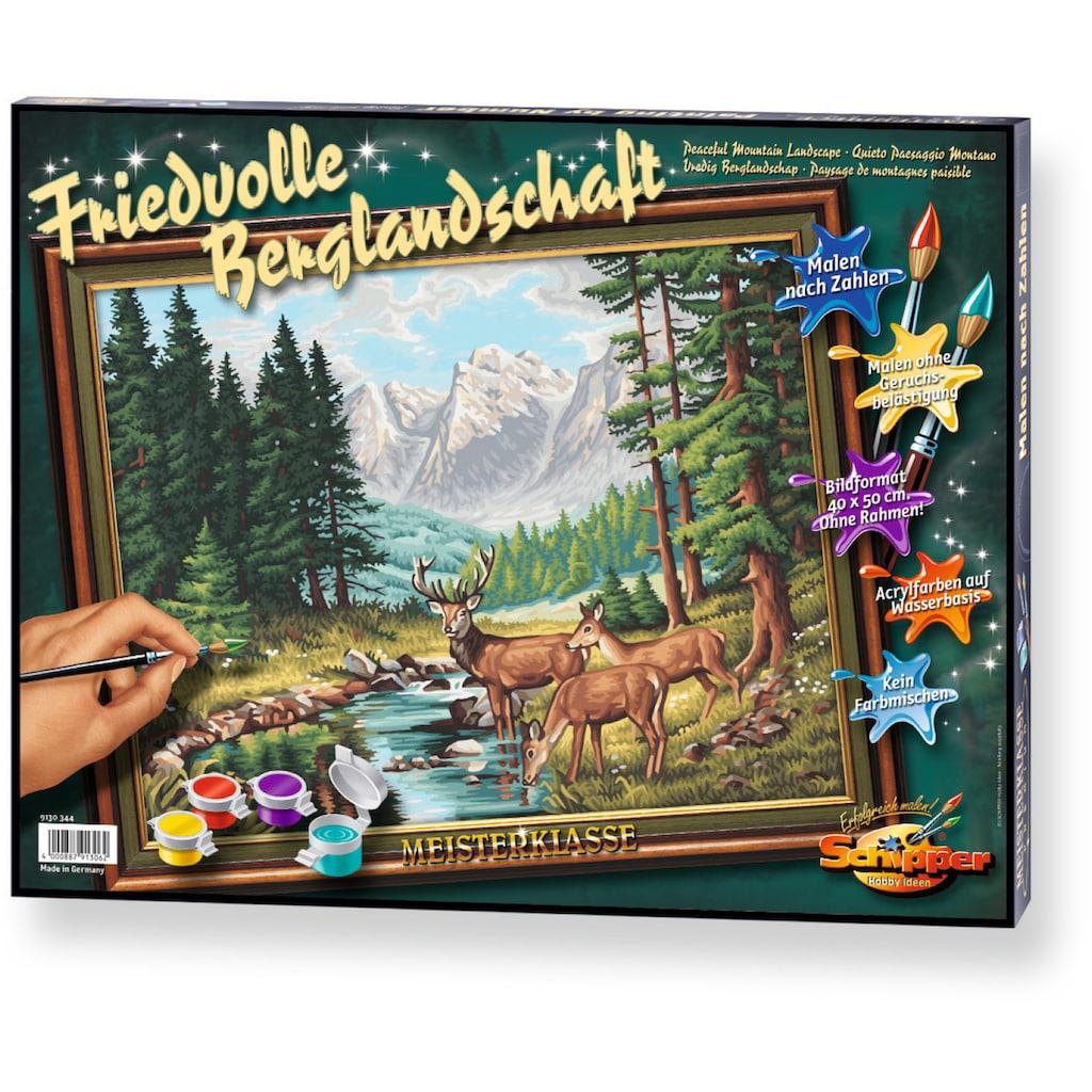 Schipper Malen nach Zahlen »Meisterklasse Premium Friedvolle Berglandschaft«, Made in Germany