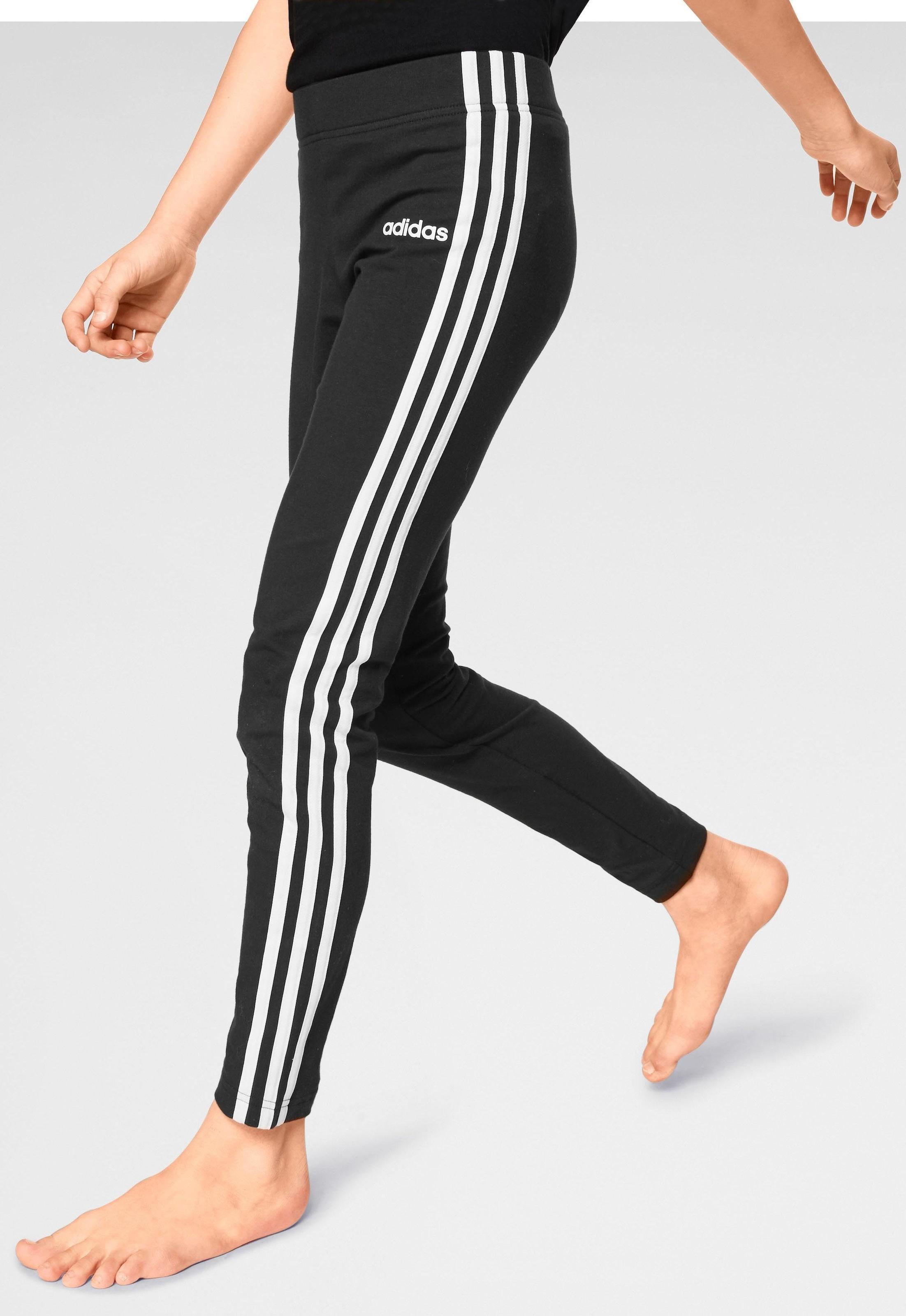 adidas Core Mädchen Sport Fitness Hose Equip 3//4 Tight schwarz weiß