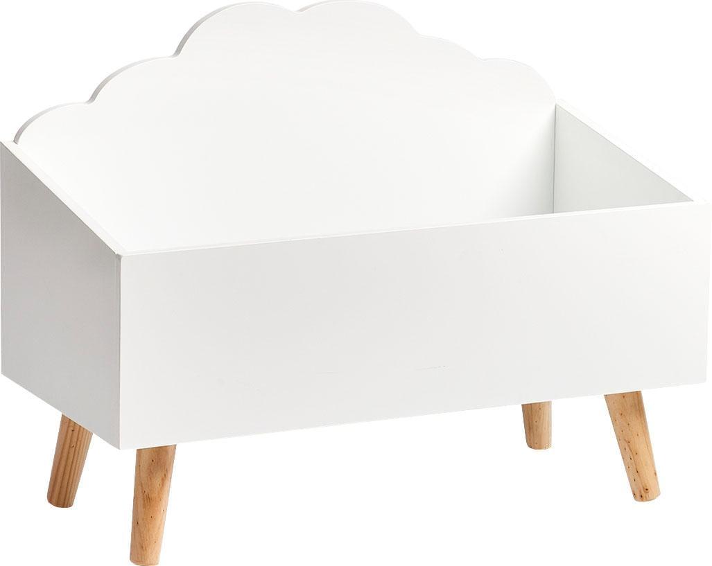 Zeller Present Spielzeugtruhe Wolke weiß Truhen Kleinmöbel