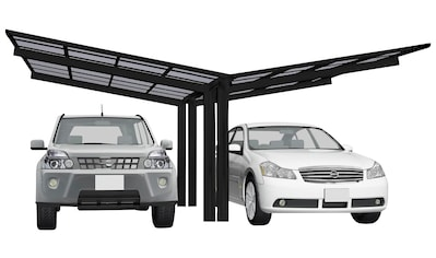 Ximax Doppelcarport »Linea Typ 60 Y-schwarz«, Aluminium, 532 cm, schwarz, Aluminium kaufen