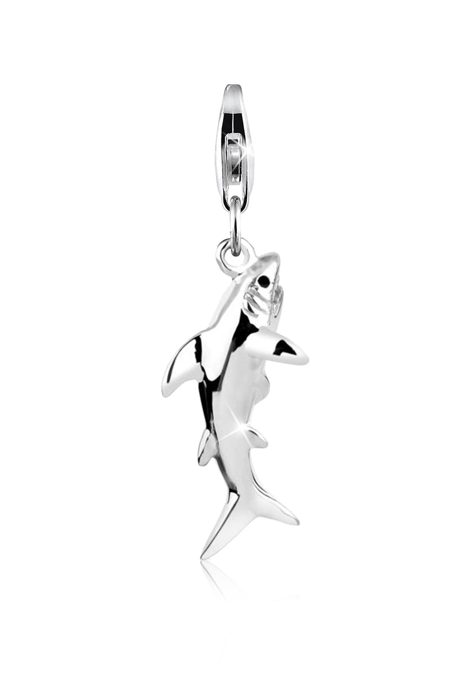 Nenalina Charm-Einhänger Anhänger Hai Fisch Meer Shark 925 Silber | Schmuck > Charms > Charms Anhänger | Nenalina