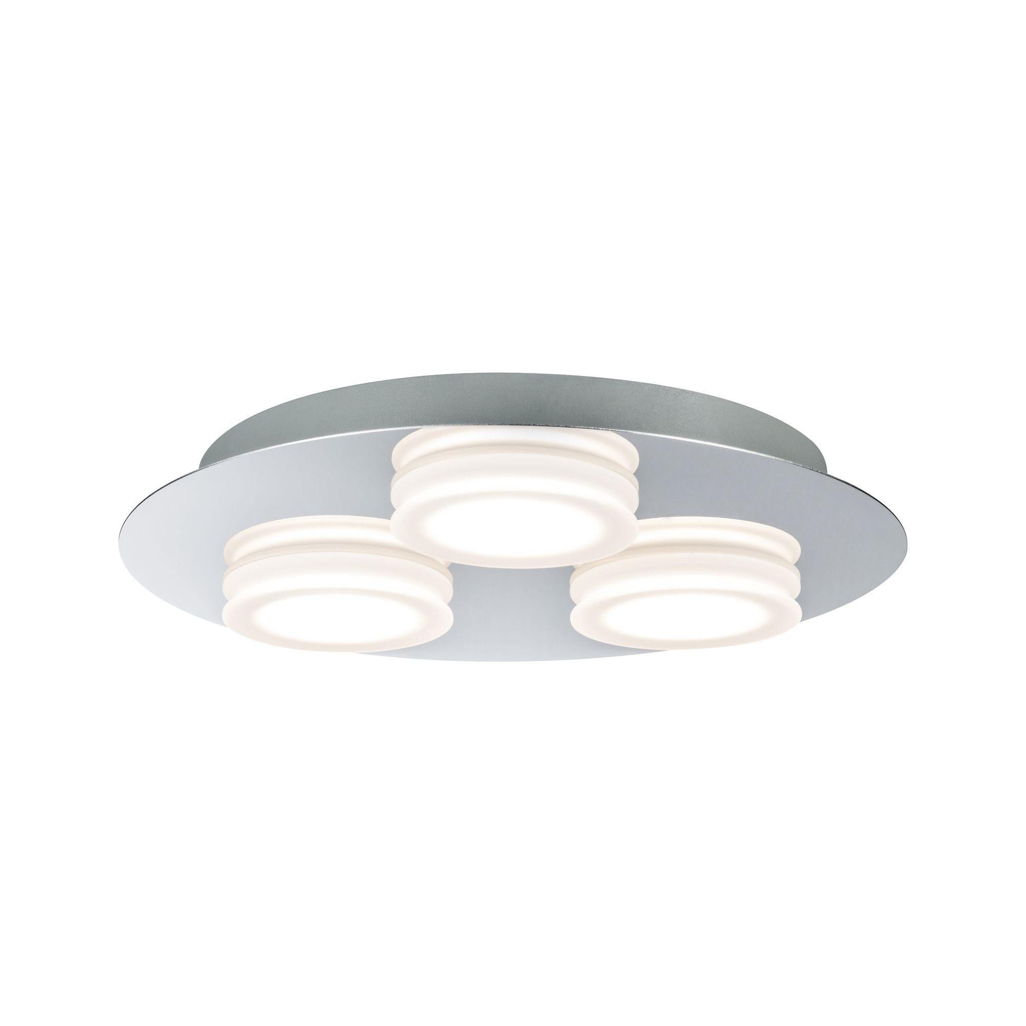 Paulmann LED Deckenleuchte Doradus 3x4,7W Chrom, 1 St., Warmweiß