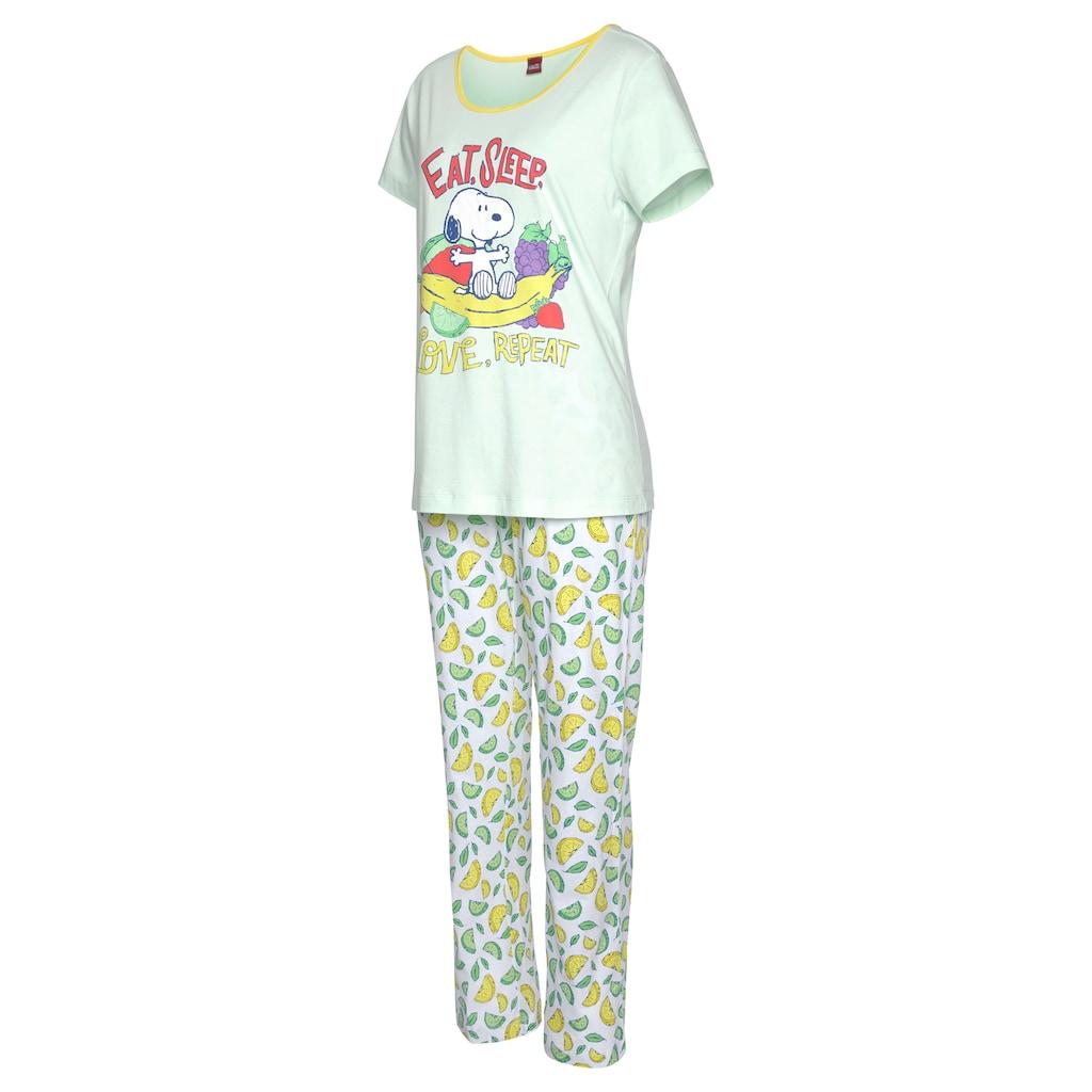 Peanuts Pyjama, aus weicher Baumwollqualität