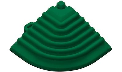 FLORCO Eckleisten Eckteil grün, 40 cm, 4 Stück kaufen