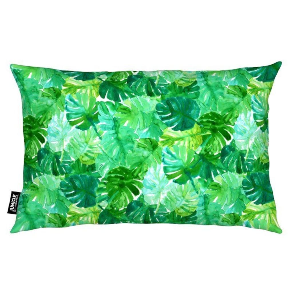 Juniqe Dekokissen »Welcome to the Jungle«, Weiches, allergikerfreundliches Material