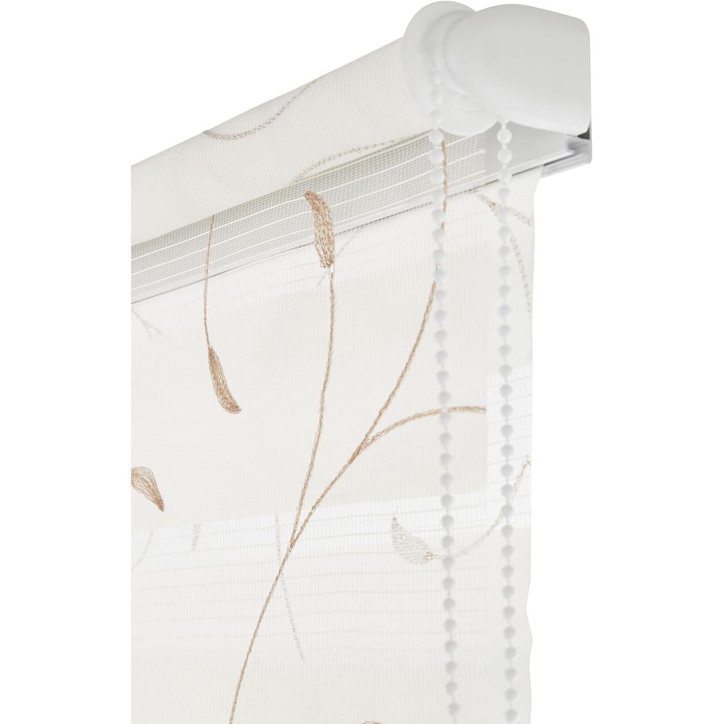 my home Doppelrollo »Clara«, Lichtschutz, ohne Bohren, freihängend, mit Stickerei