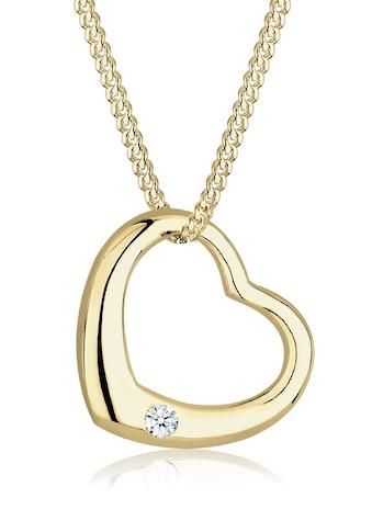 Diamore Collierkettchen »Herz Love Diamant (0.03 ct.) 375 Gelbgold« kaufen