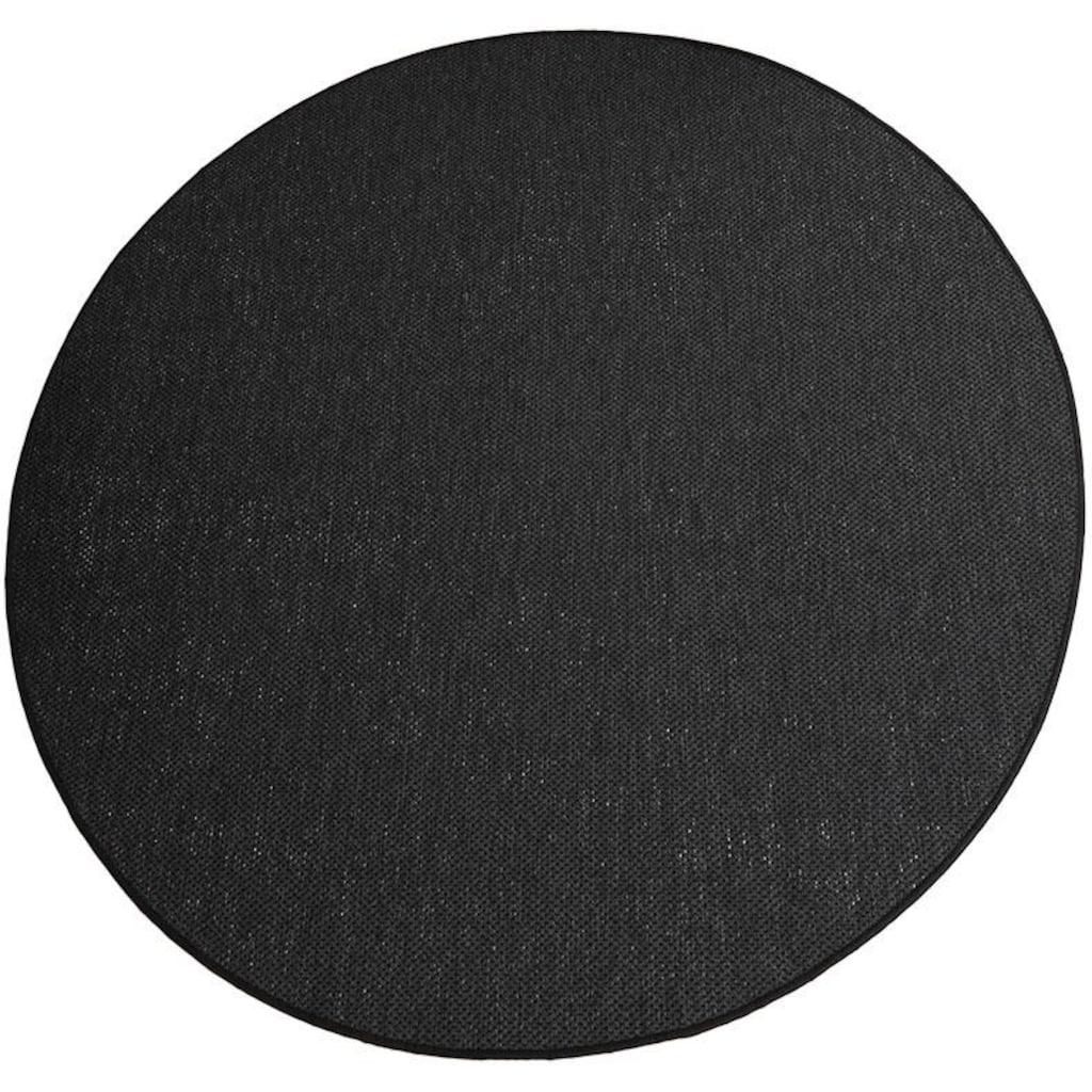 Living Line Teppich »Sahara«, rund, 5 mm Höhe, Flachgewebe, Sisal-Optik, Wohnzimmer