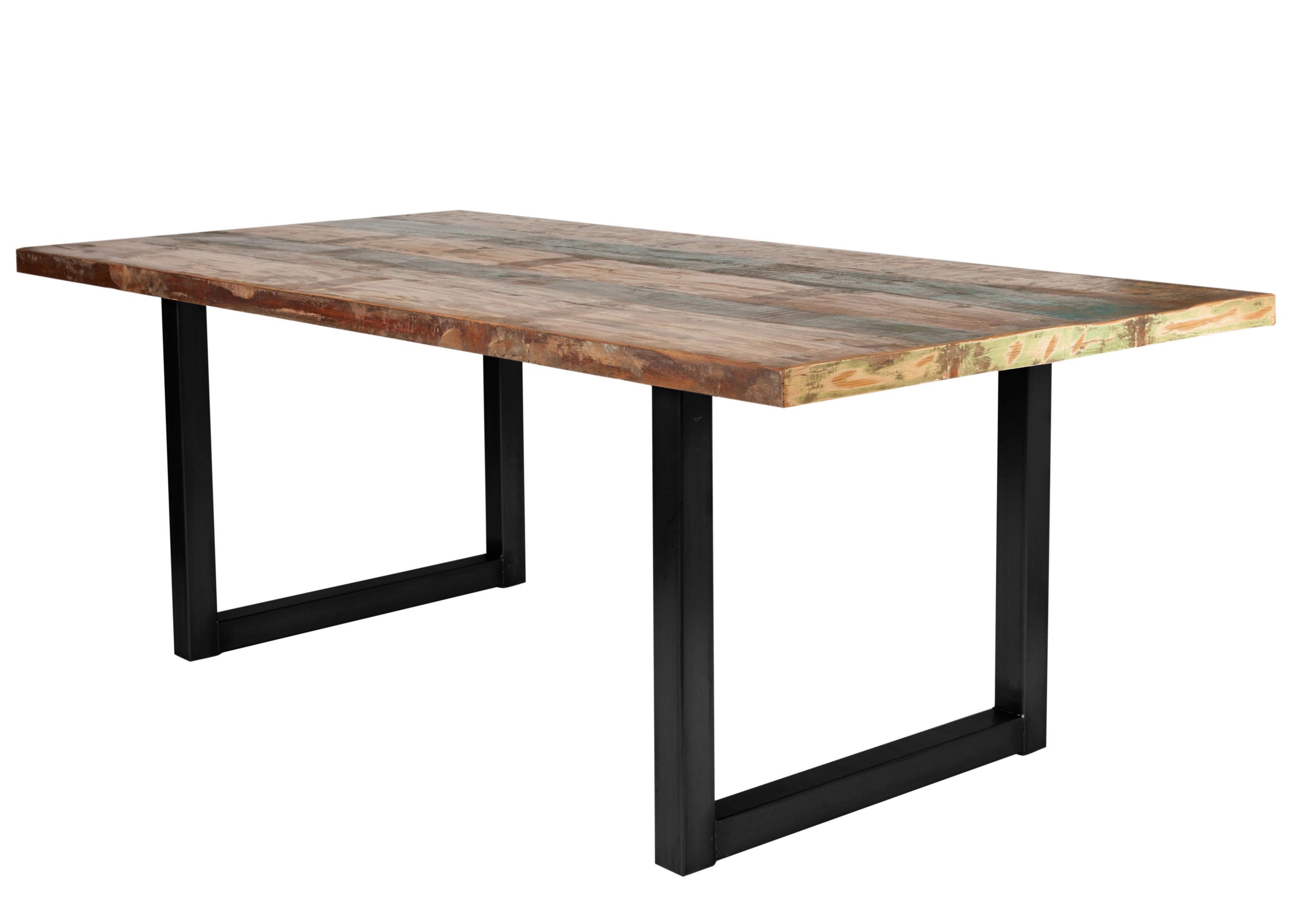 SIT Esstisch Tops aus recyceltem Altholz und Metall Preisvergleich