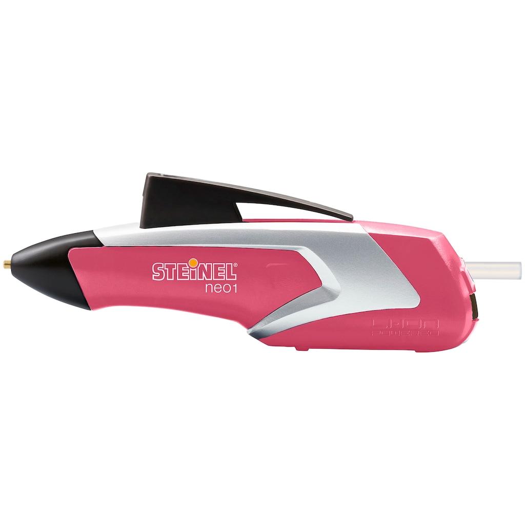 steinel Heißklebestift »neo1 Rapture Rose«, Nur 15 Sek. Aufheizzeit, Klebstoffrückzug, LED-Batteriestatusanzeige