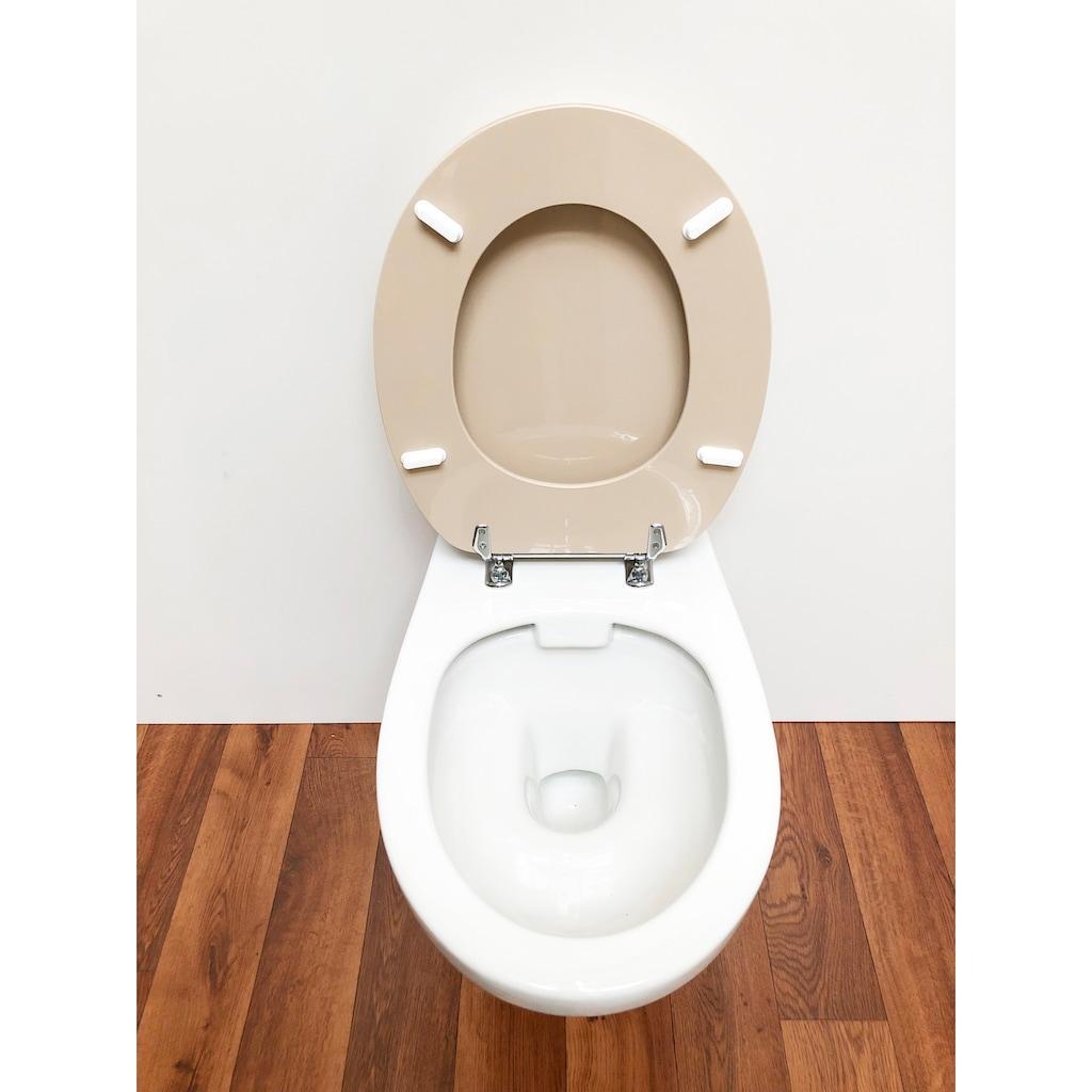 ADOB WC-Sitz »Carina manhattan«, mit Messing verchromten Scharnieren