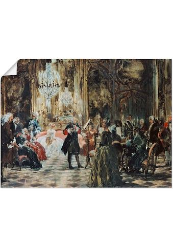 Artland Wandbild »Flötenkonzert Friedrich des Großen.«, Orchester & Bands, (1 St.), in... kaufen