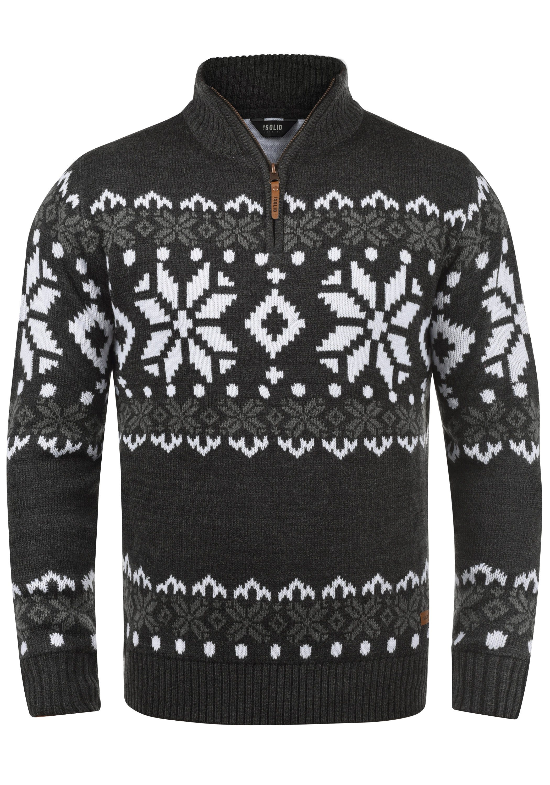 Solid Troyer Norwin | Bekleidung > Pullover > Troyer | Grau | Solid