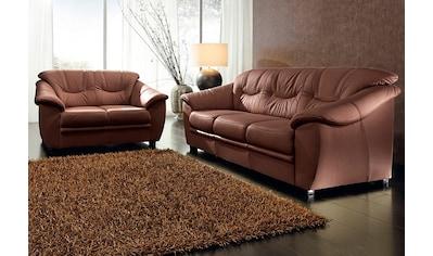 sit&more Polstergarnitur, Kunstleder SOFTLUX® (2-tlg.), bestehend aus je einem 2- und 3-Sitzer, inklusive Federkern kaufen