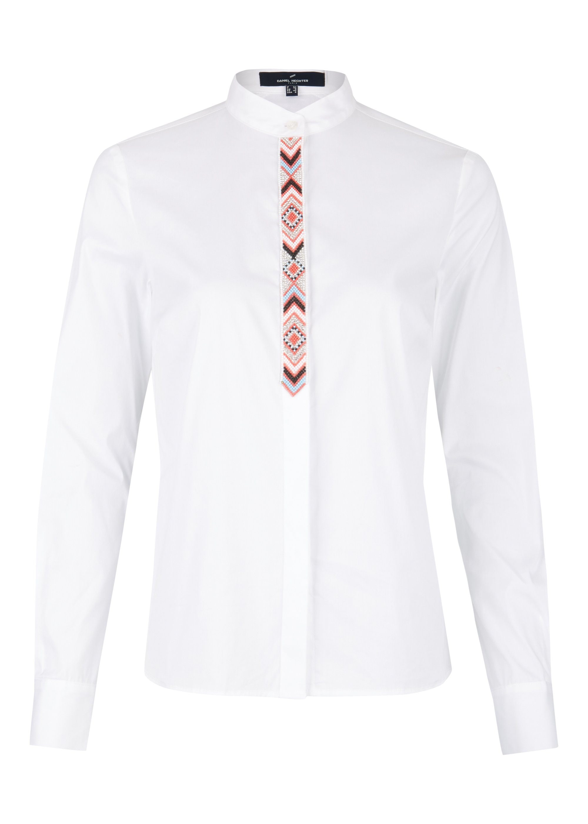 Daniel Hechter Modische Bluse mit Perlen-Schmuckleiste