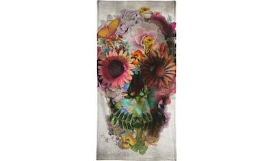 Juniqe Handtuch »Skull II«, (1 St.), Weiche Frottee-Veloursqualität kaufen