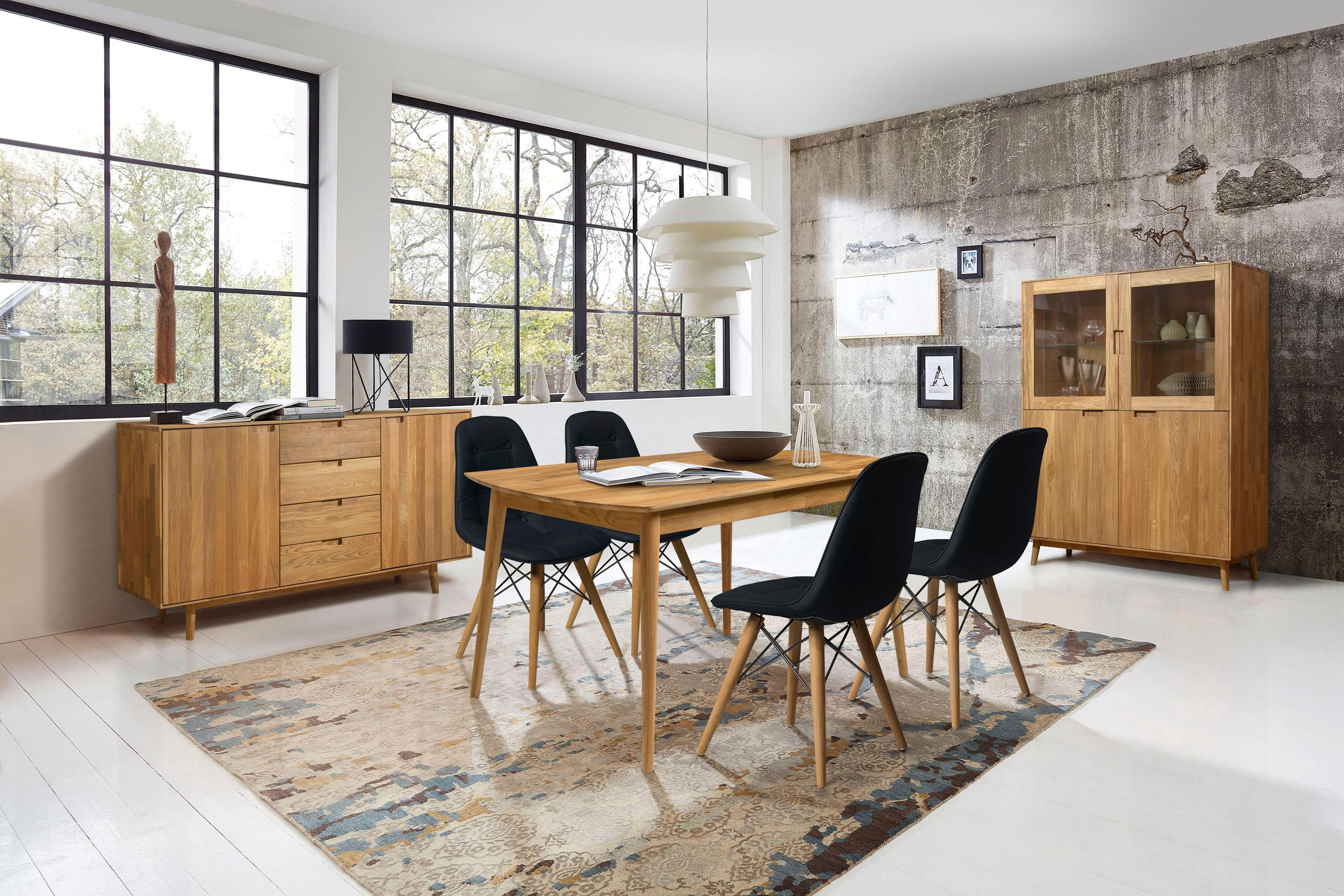 Home affaire Essgruppenset Scandi bestehend aus 4 Stühlen und einem Esstisch Esstischbreite 140 cm (5-tlg)