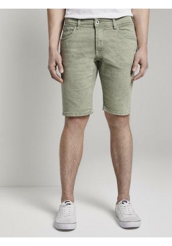 TOM TAILOR Denim Jeansshorts »Basic Jeansshorts mit Kordel - Schlüsselanhänger « kaufen
