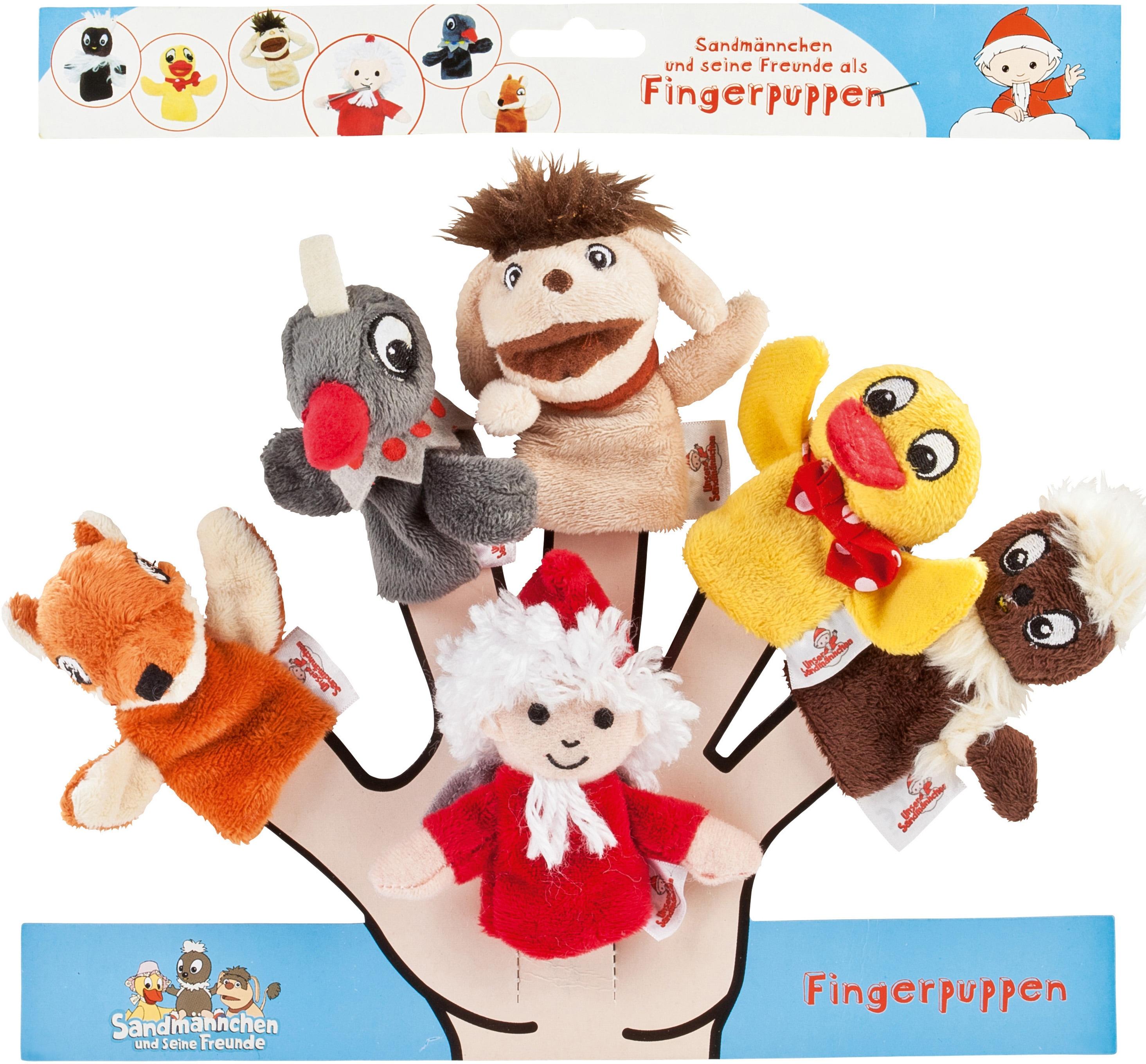 Heunec Fingerpuppe Sandmann Fingerpuppen 6er-Set, (Set, 6 tlg.) bunt Kinder Ab Geburt Altersempfehlung