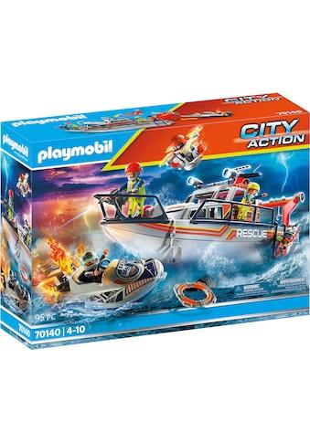 Playmobil® Konstruktions-Spielset »Seenot: Löscheinsatz mit Rettungskreuzer (70140), City Action«, Made in Europe kaufen