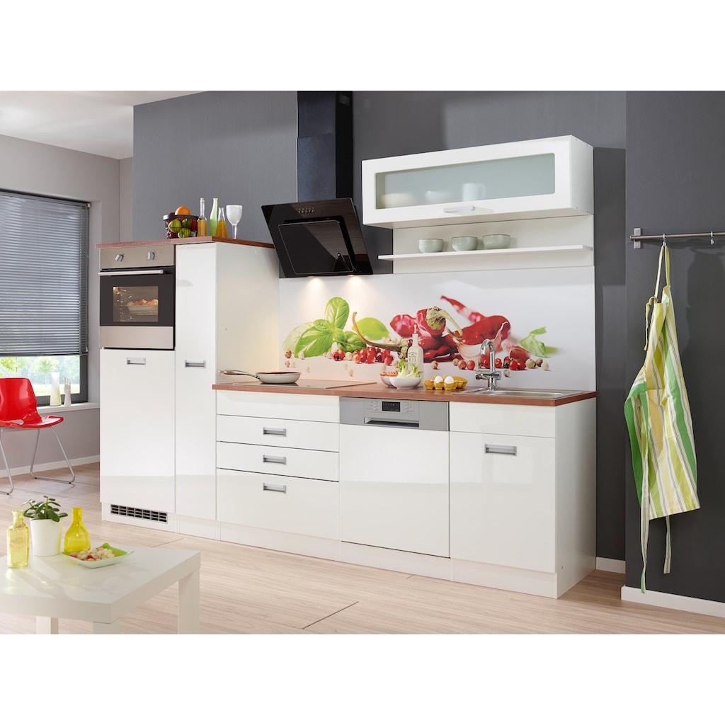 HELD MÖBEL Küchenzeile »Fulda«, ohne E-Geräte, Breite 280 cm