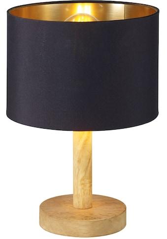 Home affaire Tischleuchte »Marleen«, E27, 1 St., Warmweiß, Schirm schwarz-gold kaufen
