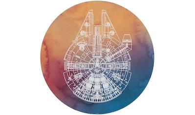 Komar Fototapete »Star Wars Millennium Falcon«, bedruckt-Comic-Retro-mehrfarbig, BxH:... kaufen
