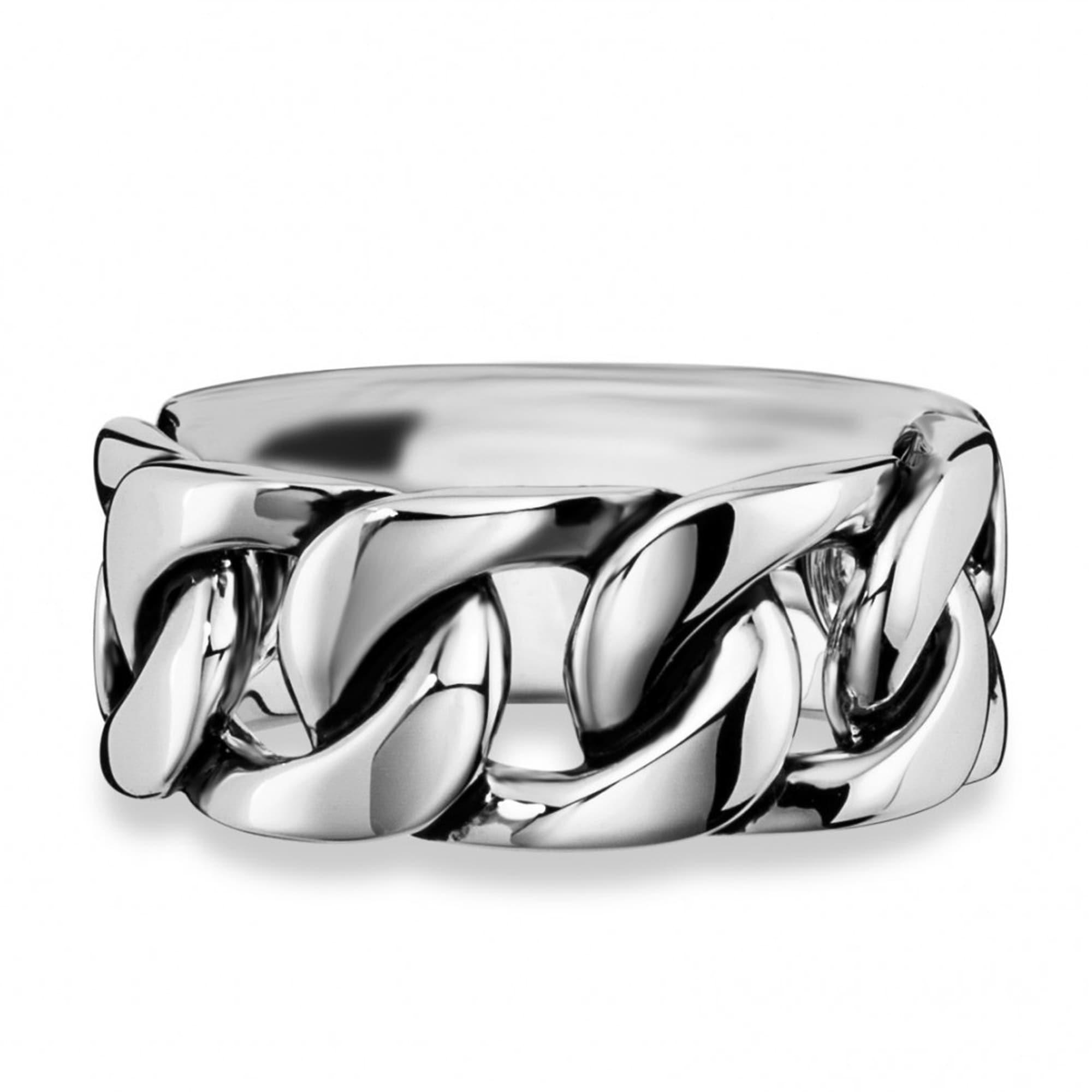 CAÏ Ring 925/- Sterling Silber rhodiniert Ketten-Optik   Schmuck > Halsketten > Silberketten   Weiß   Stein   Caï