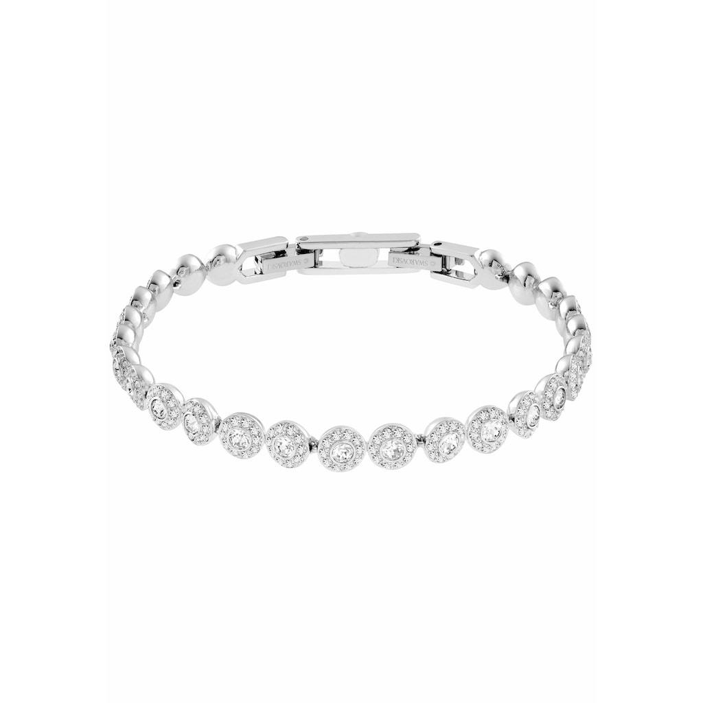 Swarovski Armband »ANGELIC, WEISS, RHODINIERT, 5071173«, mit Swarovski® Kristallen