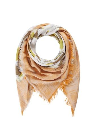 Codello Fransentuch, mit Blätter-Motiv aus Baumwolle und Modal kaufen