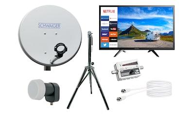 Schwaiger Camping Sat Anlage mit 24 Zoll Smart TV Fernseher Netflix »Dreibeinstativ Sat Finder« kaufen