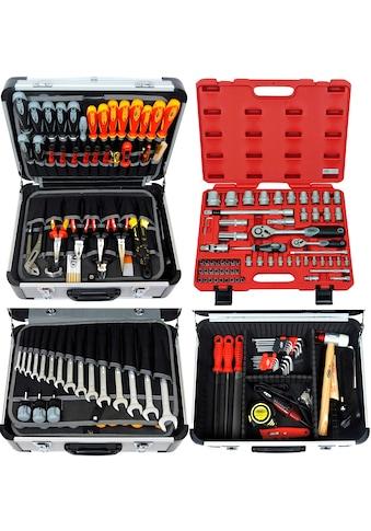 FAMEX Werkzeugkoffer »418 - 20«, 152tlg, mit 66tlg. Steckschlüsselsatz kaufen