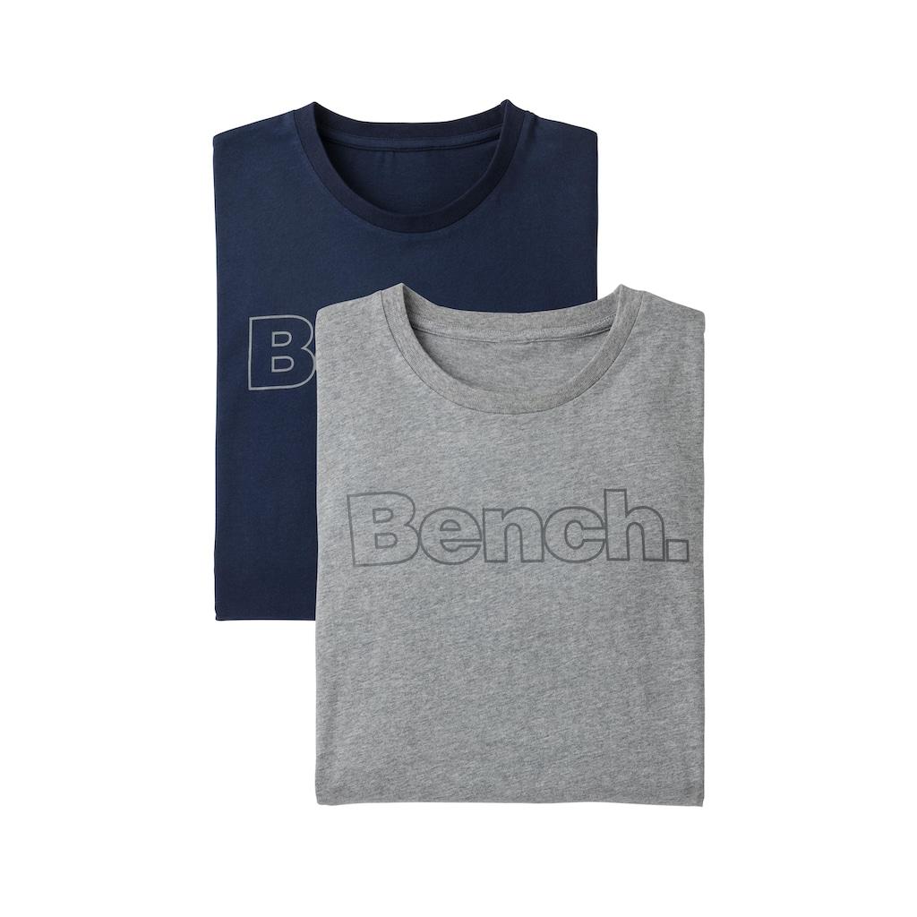 Bench. T-Shirt »Logo Print«, mit Bench. Print vorn