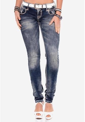 Cipo & Baxx Slim-fit-Jeans, mit niedriger Taille in Straight Fit kaufen