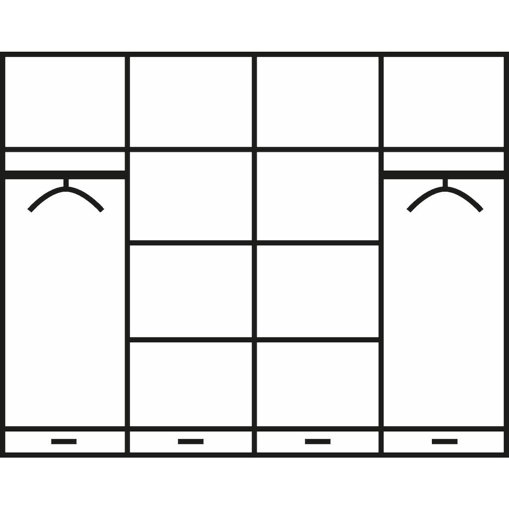 Home affaire Kleiderschrank »Lotta«, wahlweise in 4-, oder 5-geteilt, in 2 Farben