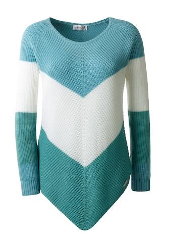 Pullover mit v - förmig angeordneten Blockstreifen kaufen