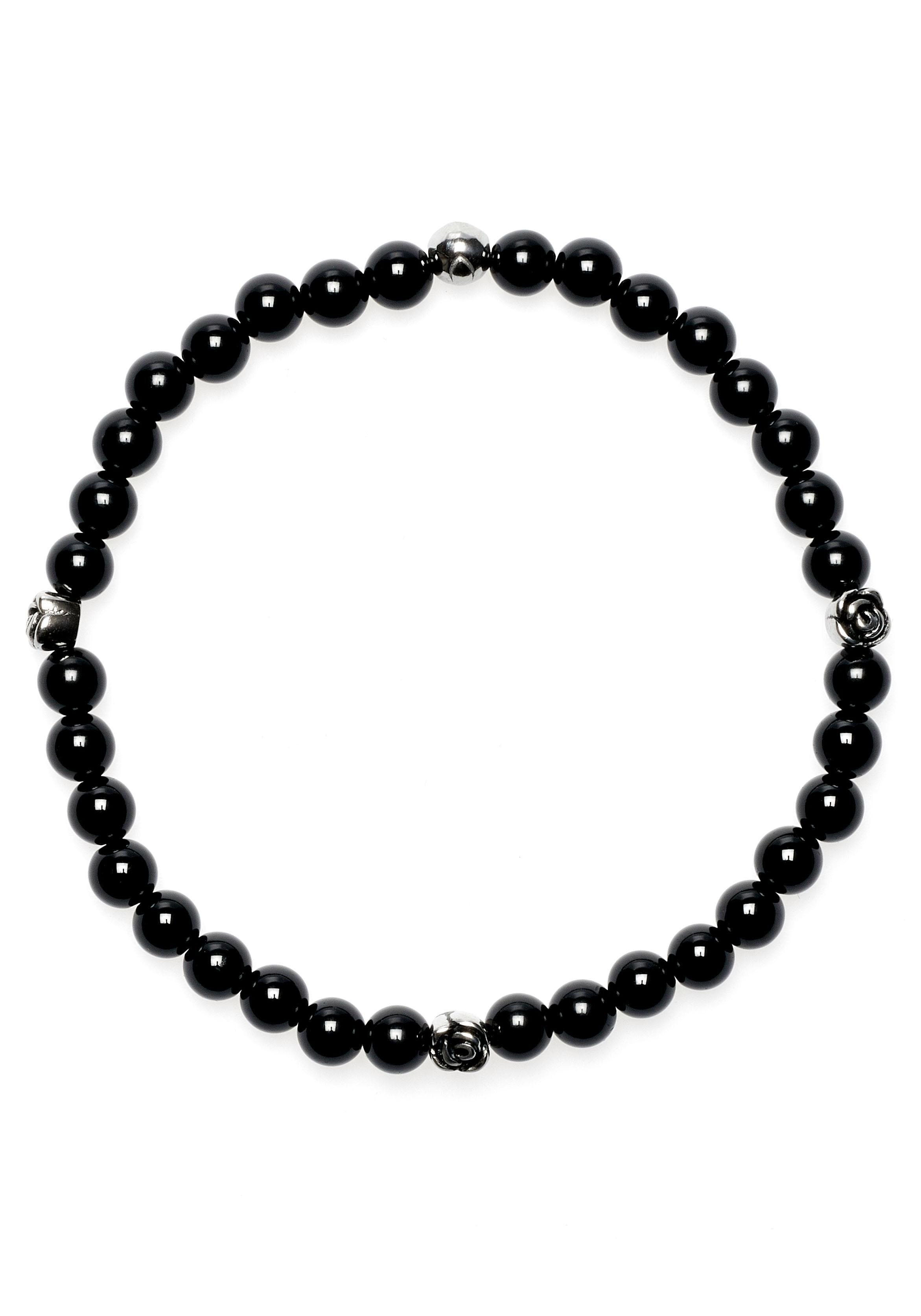 ROYAL EGO Armband Rose - Lava Bead Rose black silver 1709   Schmuck > Armbänder > Sonstige Armbänder   Schwarz   Royal Ego