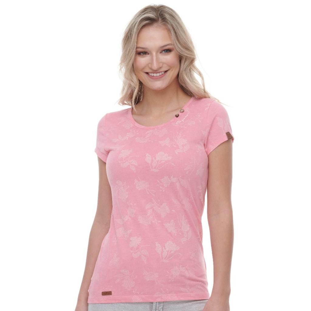 Ragwear T-Shirt »MINT ROSE«, mit geblümten All Over-Druck