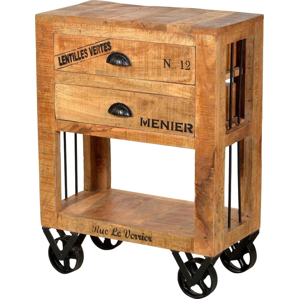 SIT Küchenwagen »Rustic«, mit schwarzen Schriftzügen, Shabby Chic, Vintage