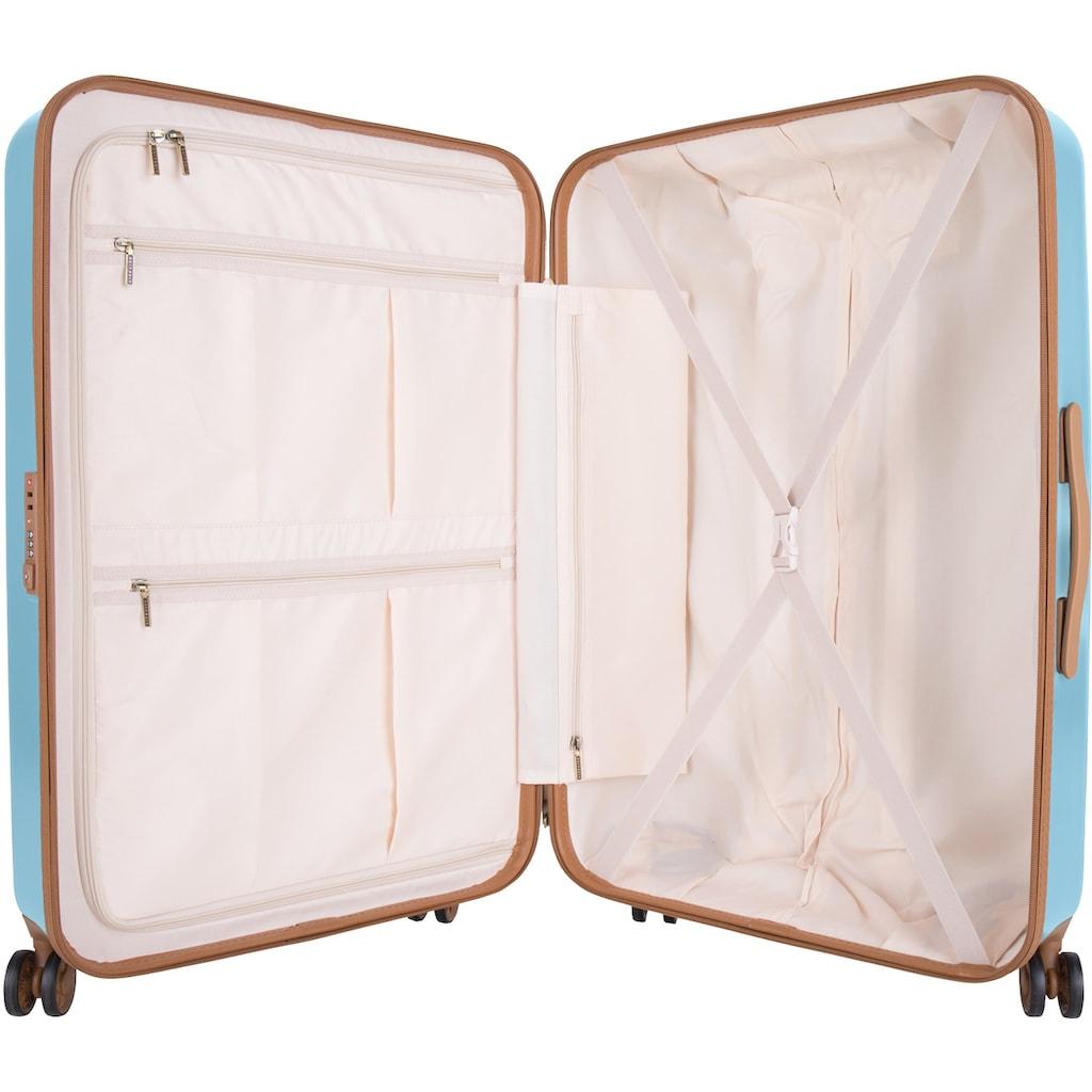 suitsuit Hartschalen-Trolley »Fab Seventies, 76 cm«, 4 Rollen, 4 Rollen, inkl. Travel Kit und Schutzhülle