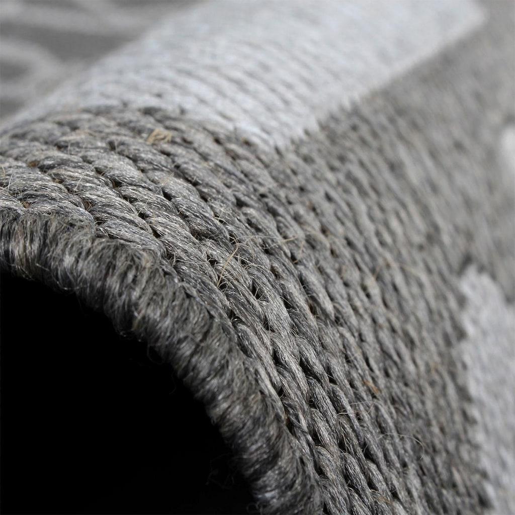 Paco Home Teppich »Country 675«, rechteckig, 5 mm Höhe, In- und Outdoor geeignet, Wohnzimmer