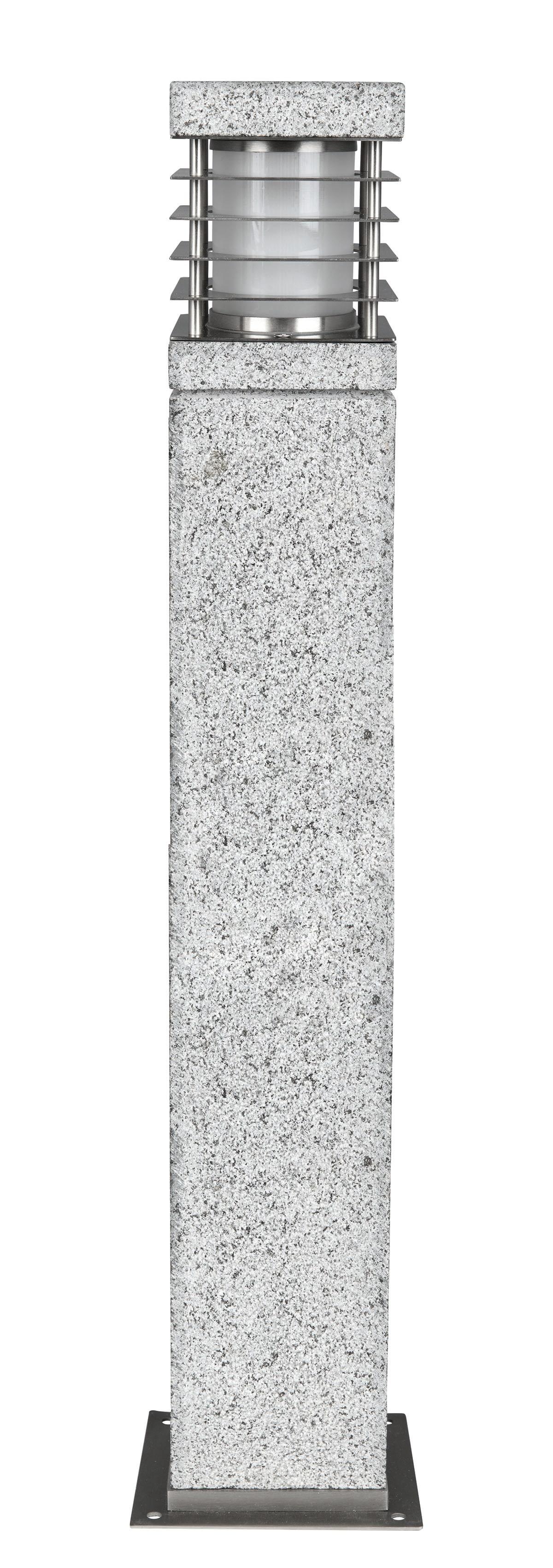 HEITRONIC Sockelleuchte Lar Mer, E27, 1 St., Seewaserbeständiges Gehäuse aus echtem Granit