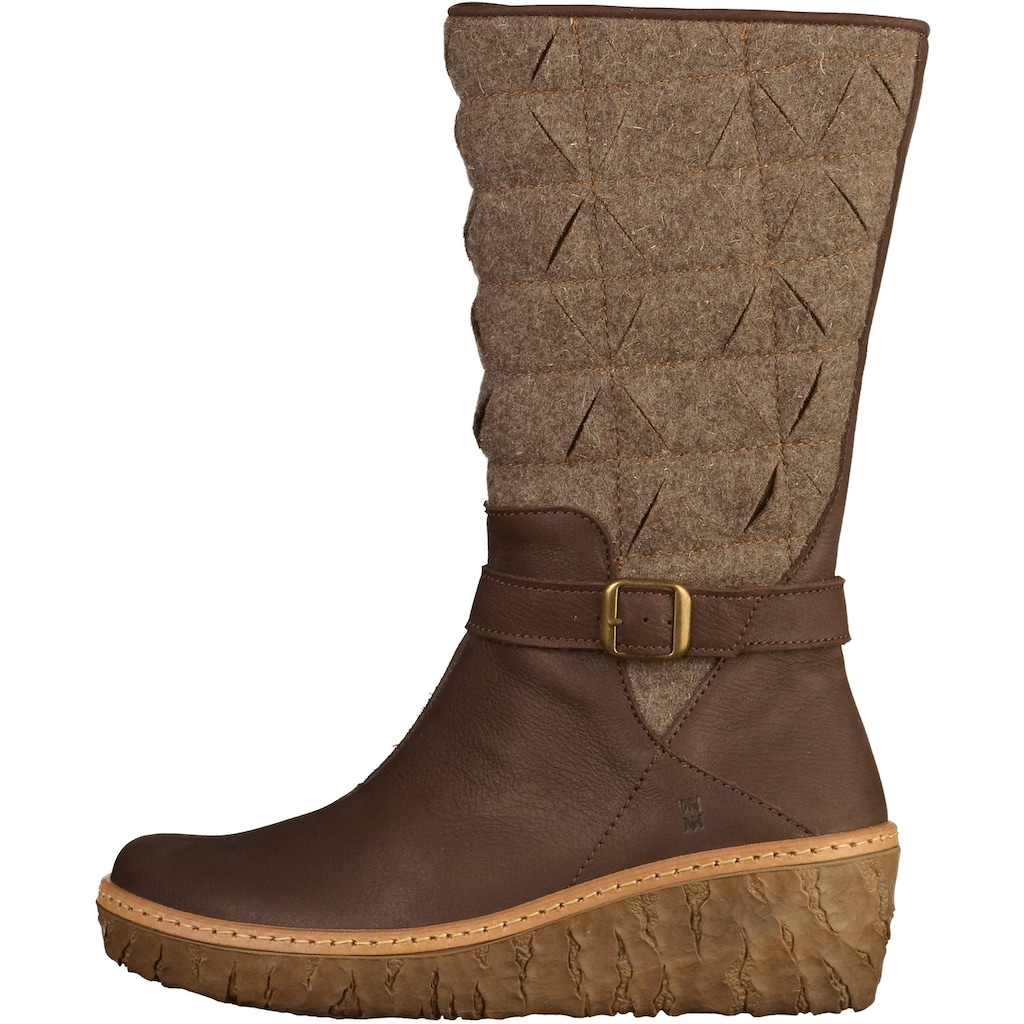 El Naturalista Keilstiefel »Leder/Textil«